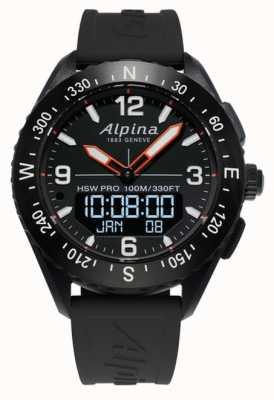 Alpina AlpinerX Smartwatch Black Rubber Strap AL-283LBB5AQ6