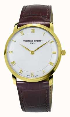 Frederique Constant Mens Automatic Slimline Gold Plated Case FC-200RS5S35