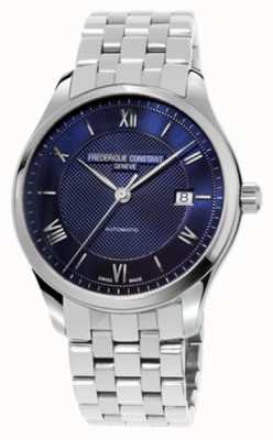 Frederique Constant Men's Index Blue Dial Stainless Steel Bracelet FC-303MN5B6B