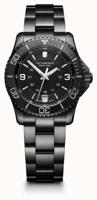 Victorinox Swiss Army Mens Maverick Small Black Ion Plated Stainless Steel 241799