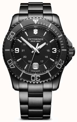 Victorinox Swiss Army Mens Maverick Black Ion Plated Stainless Steel 241798
