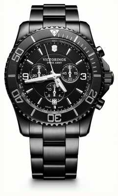Victorinox Swiss Army Mens Maverick Chrono Edition Black Bracelet Black Dial 241797