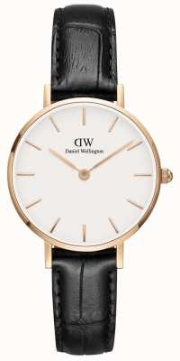 Daniel Wellington Ladies Petite Classic Black Leather Watch DW00100229