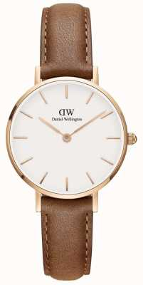 Daniel Wellington Ladies Classic Petite Brown Leather Watch DW00100228