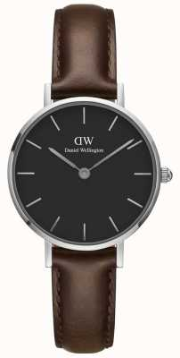 Daniel Wellington Ladies Classic Petite Watch Dark Brown Leather Strap DW00100233