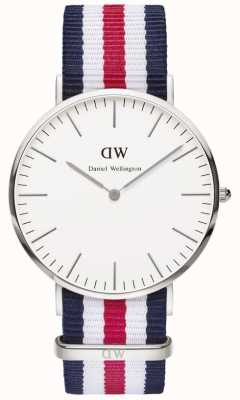 Daniel Wellington Mens Classic Canterbury Watch Silver Case DW00100016