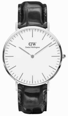 Daniel Wellington Mens Classic Black Leather Reading Watch DW00100028