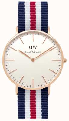 Daniel Wellington Mens Classic Canterbury Watch Rose Gold Case DW00100030