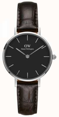 Daniel Wellington Ladies Classic Petite York Black Leather Strap DW00100238