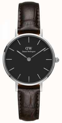 Daniel Wellington Ladies Classic Petite York Black Leather Strap DW00100238