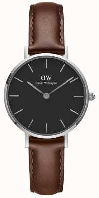Daniel Wellington Ladies Classic Petite St Mawes Dark Brown Leather Strap DW00100237