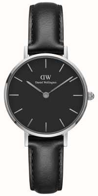 Daniel Wellington Ladies Classic Petite Sheffield Black Leather Strap DW00100236