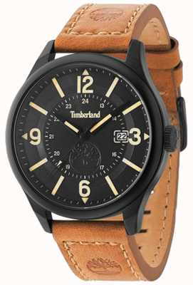 Timberland Mens Blake Brown Leather Strap Black Case And Dial TBL.14645JSB/02