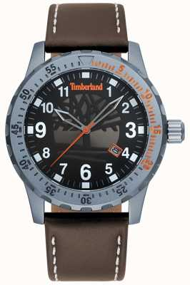 Timberland Mens Clarksburg Dark Brown Leather Strap Black Dial TBL.15473JLU/02