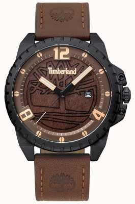 Timberland Mens Eastford Dark Brown Leather Black Case Brown Wood Dial TBL.15513JSB/12