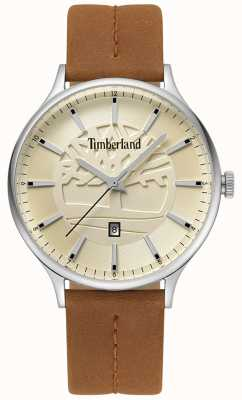 Timberland Mens Marblehead Tan Leather Strap Beige Dial TBL.15488JS/07