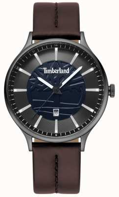 Timberland Mens Marblehead Brown Leather Strap Blue Dial TBL.15488JSU/03