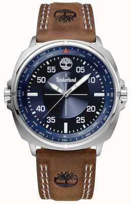 Timberland Williston Brown Leather Strap Blue Dial TBL.15516JS/03