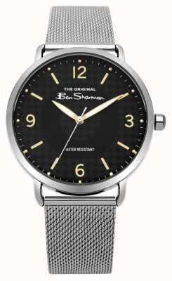Ben Sherman Mens Matt Black Dial Silver Steel Mesh BS015BSM