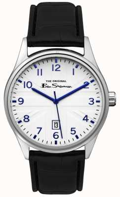 Ben Sherman Mens Matt Blue Dial Silver Gun Two Tone Bracelet BS017B