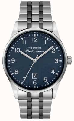 Ben Sherman Mens Matt Watch | Blue Dial | Stainless Steel Bracelet | BS017USM