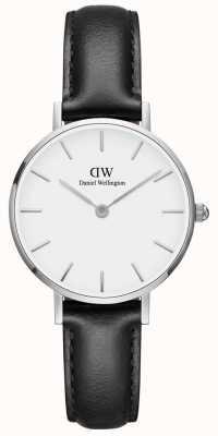 Daniel Wellington Ladies Classic Petite Sheffield Black Leather Watch DW00100242