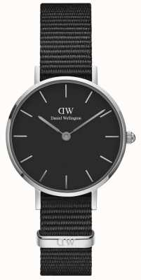 Daniel Wellington Ladies Classic Petite Cornwall Black Watch Silver Case DW00100248
