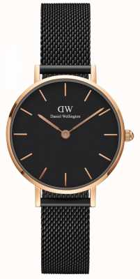 Daniel Wellington Ladies Classic Petite Ashfield Watch Rose Gold Case DW00100245