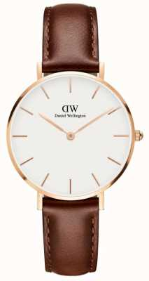 Daniel Wellington Classic St Mawes Unisex Watch White Dial Rose Gold Case DW00100175