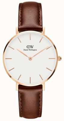 Daniel Wellington Classic St Mawes Unisex Watch White Dial Rose Gold Case DW00100175
