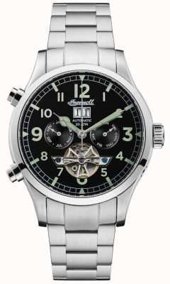 Ingersoll Mens The Armstrong Automatic Black Chrono Stainless Steel I02103