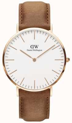 Daniel Wellington Mens Classic Durham Light Brown Leather Watch DW00100109