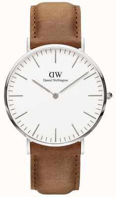 Daniel Wellington Mens Classic Durham Silver Case Watch DW00100110