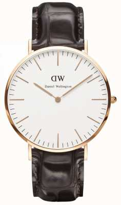 Daniel Wellington Unisex Classic York Watch 40mm Rose Gold Case DW00100011