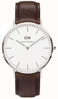 Daniel Wellington Mens Classic Bristol Watch 40mm Silver Case DW00100023