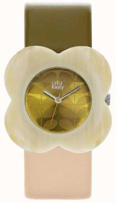 Orla Kiely Womens Two Colour Strap Poppy Case Watch OK2210