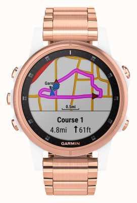 Garmin Fenix 5S Plus Sapphire Rose Gold Plated (w/sports strap) 010-01987-11
