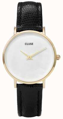 CLUSE Minuit La Perle White Pearl Dial Nude Lizard Leather Strap CL30048
