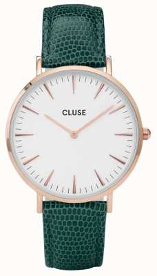 CLUSE La Boheme Rose Gold Tone Case Lizard Strap CL18038