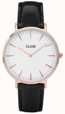 CLUSE La Boheme Rose Gold Tone Case Lizard Strap CL18037