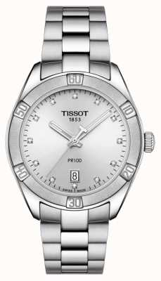 Tissot Ladies PR 100 Sport Chic Diamond Set Date Display T1019101103600