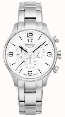 Bruno Sohnle Mens Padua 42mm Quartz White Dial Stainless Steel Bracelet 17-13199-962