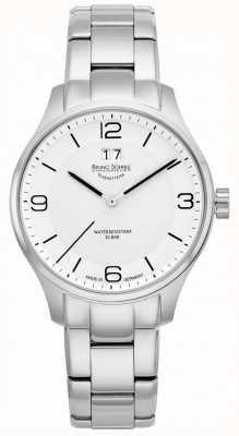 Bruno Sohnle Mens Padua 42mm Quartz White Dial Stainless Steel Bracelet 17-13199-962