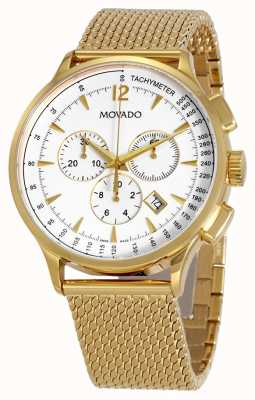 Movado Men's Circa Chronograph Gold Plated Strap 0607080