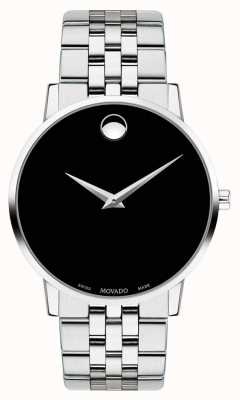 Movado Mens Museum Black Dial Stainless Steel Bracelet 0607199