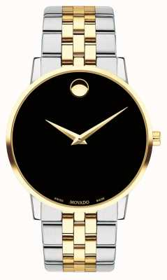 Movado Men's Museum Two Tone Gold Plated Stainless Steel 0607200