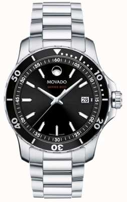 Movado Men's Series 800 Stainless Steel Black Dial 2600135