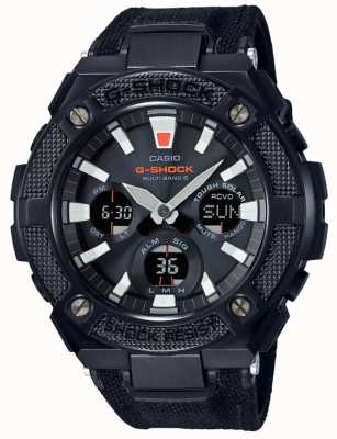 Casio G-Steel Radio Controlled Solar Black Canvas GST-W130BC-1AER