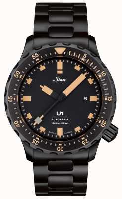 Sinn U1 SE Black Bracelet Tegiment Watch 1010.023 BRACELET