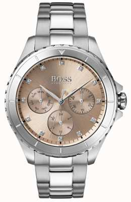 Hugo Boss Womens Premiere Bronze Dial Stainless Steel Bracelet 1502444